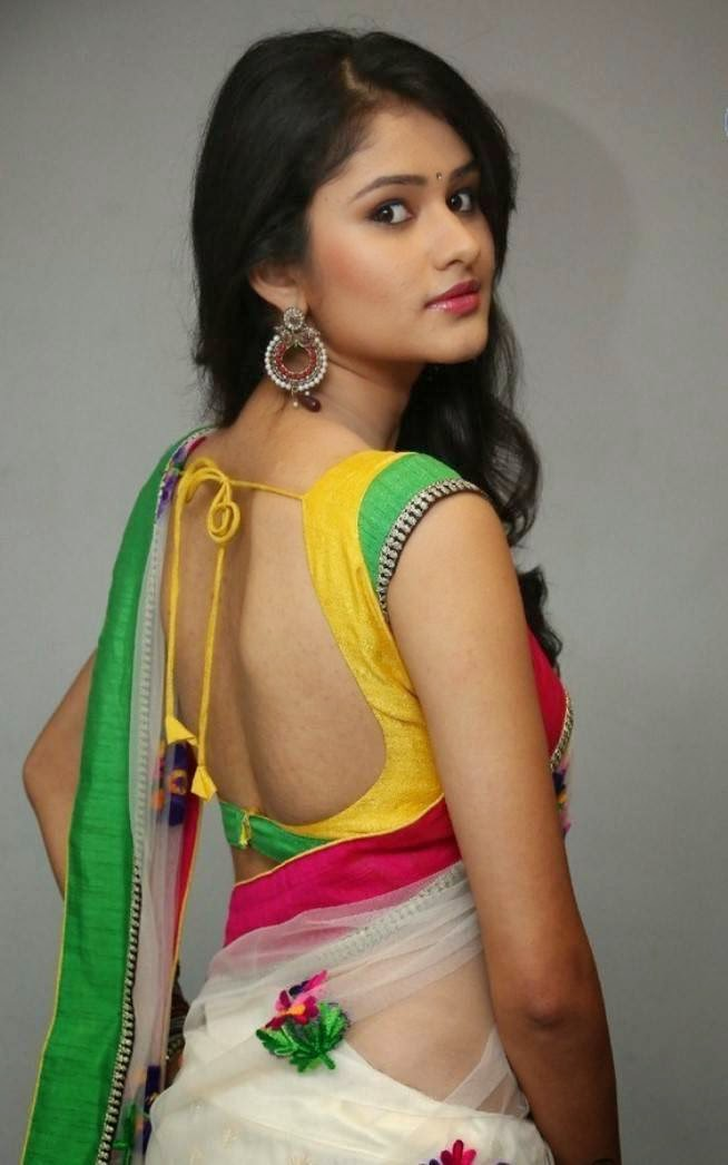 Khushi in Backless Blouse