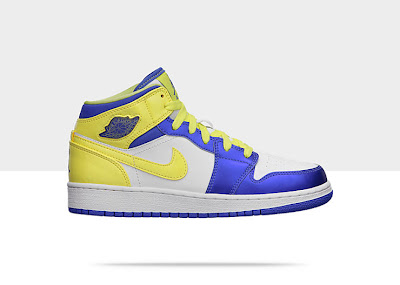 Air Jordan 1 Mid (3.5y-7y) Girls' Shoe 555112-118