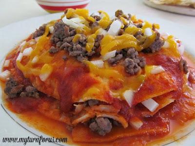 red enchiladas chihuahua style