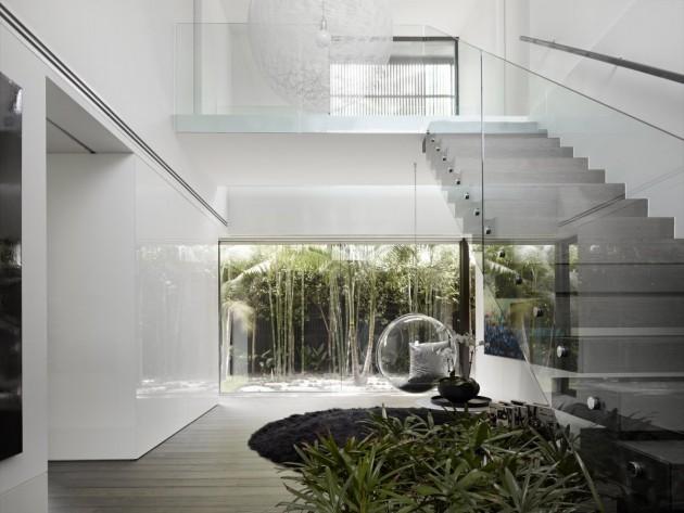 Casas minimalistas y modernas escaleras interiores for Casa minimalista interior cocina