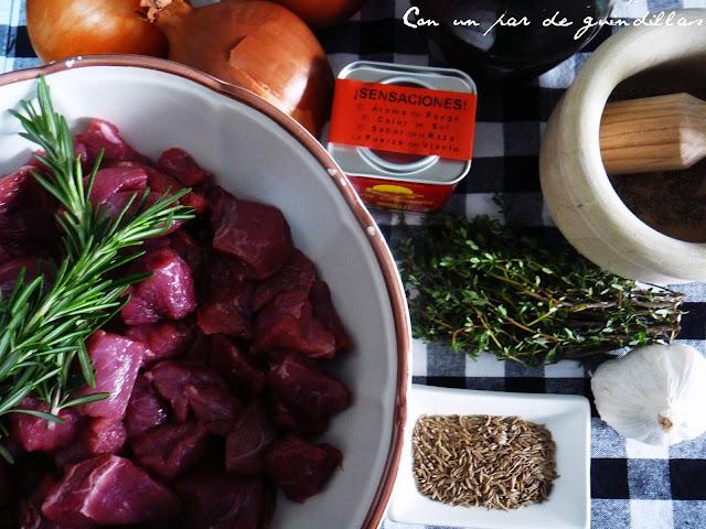 Ingredientes necesarios para un goulash