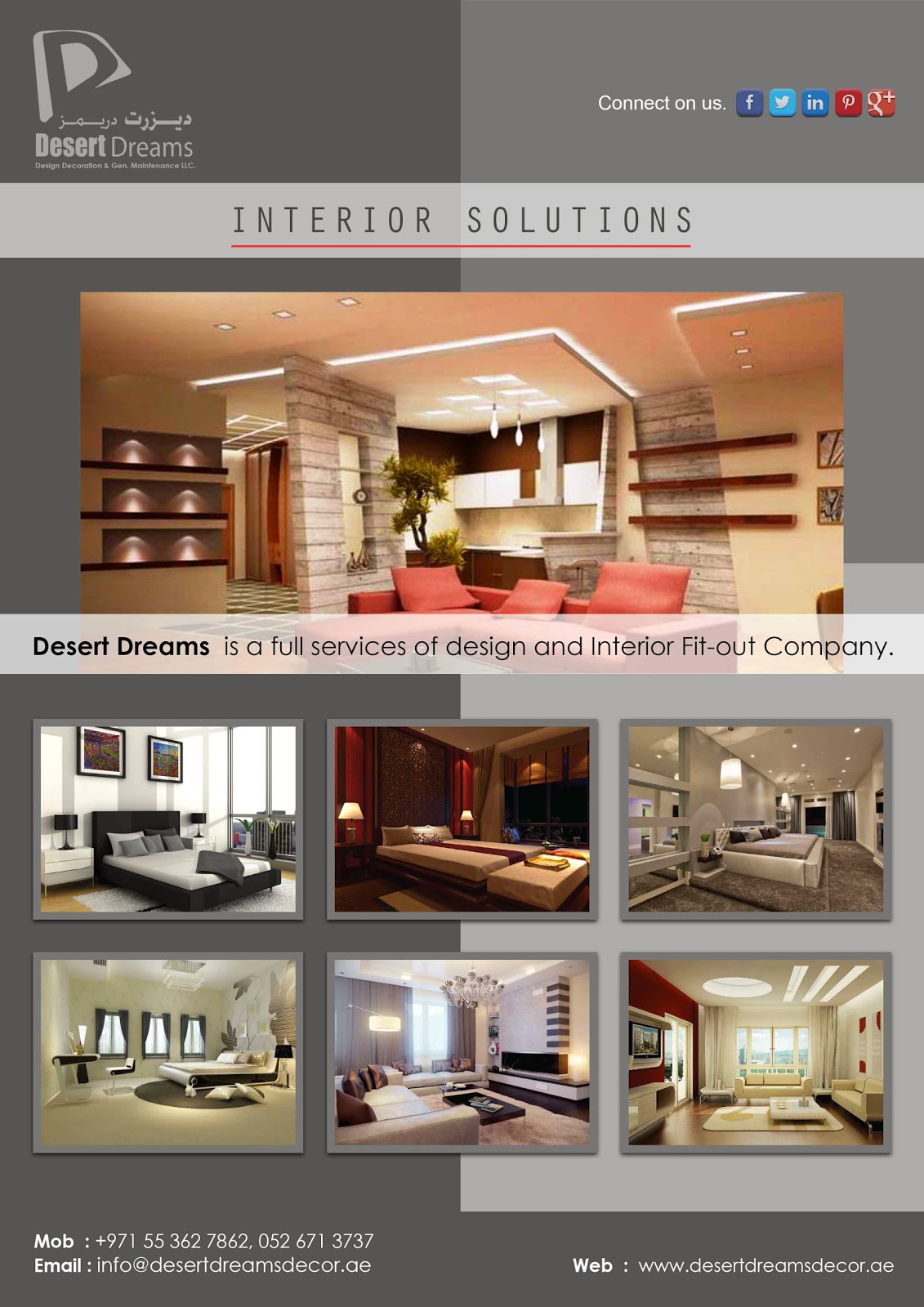 Desert Dreams Is A Full Services Of Design And Interior Fitout - Home interior design company