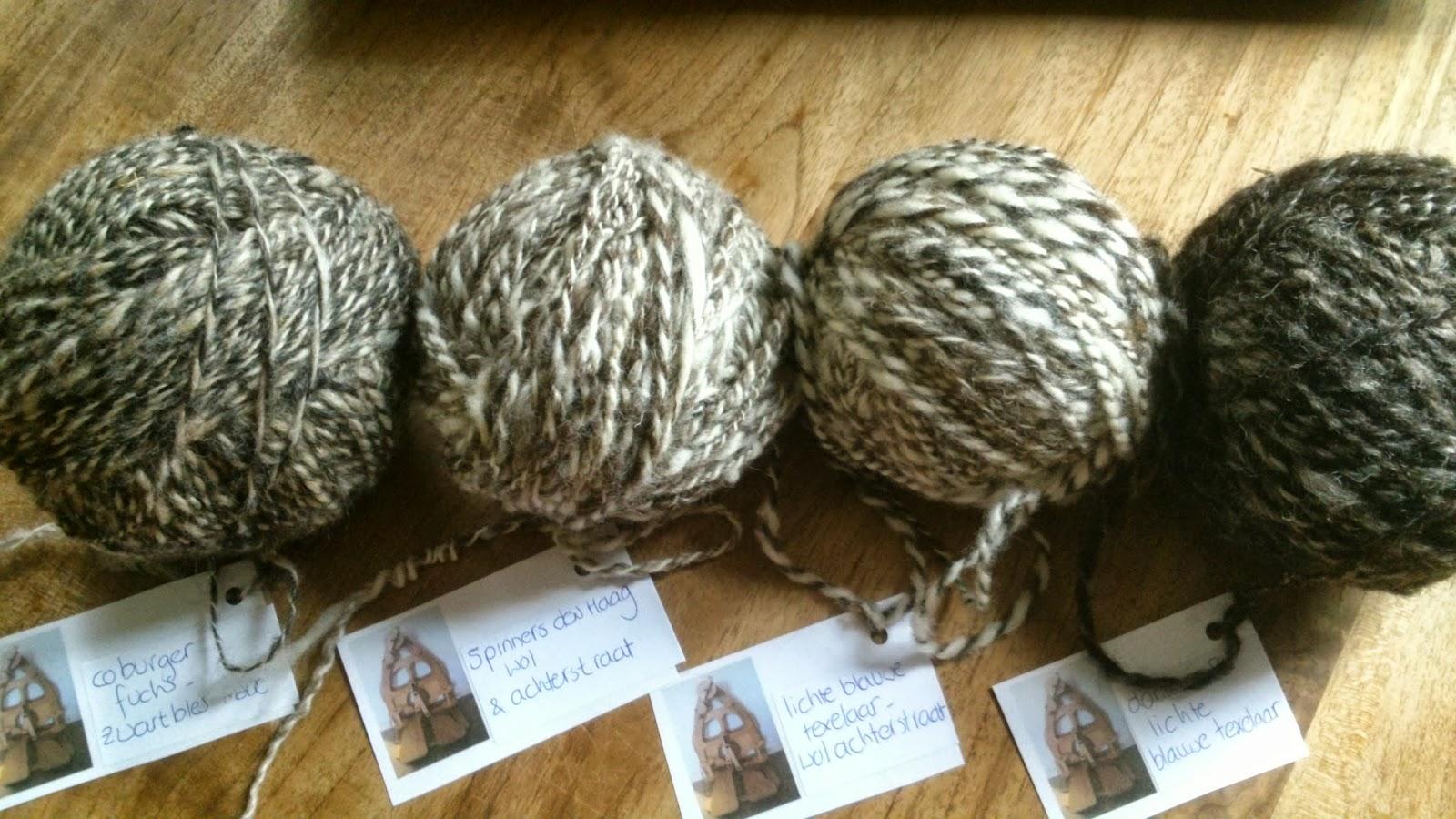 Woolworks eerste gesponnen bolletjes en mijn eerste gehaakte kussen