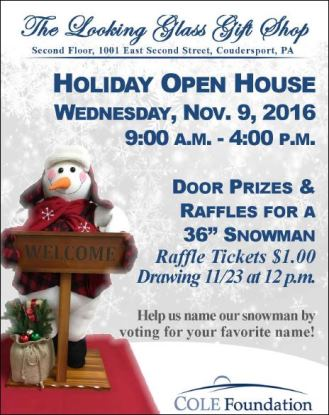 11-9 Holiday Open House Looking Glass Gift Shop