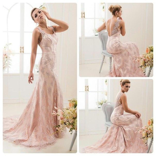 Цвет пудровый свадебное платье