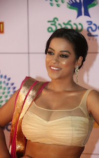 Actress Mumaith Khan  Picture Gallery in Half Saree at Memu Saitam Dinner with Stars Red Carpet  10.jpg
