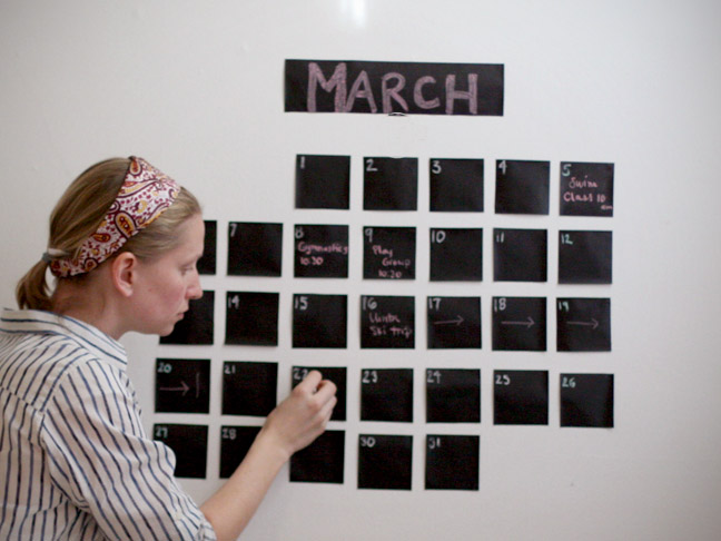 Tatamba blog de decoraci n calendario pizarra para la pared - Pizarra calendario ...