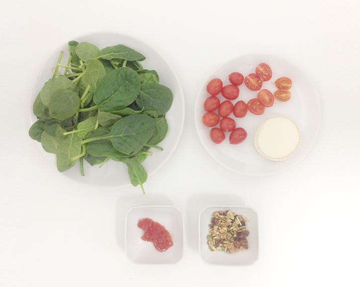 Receta ensalada de espinacas, ingredientes - Hansel y Greta