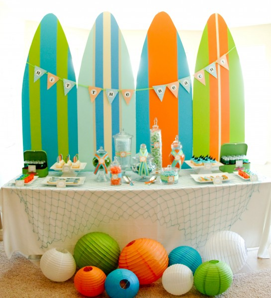 Domestic charm surf party for Surf decoration
