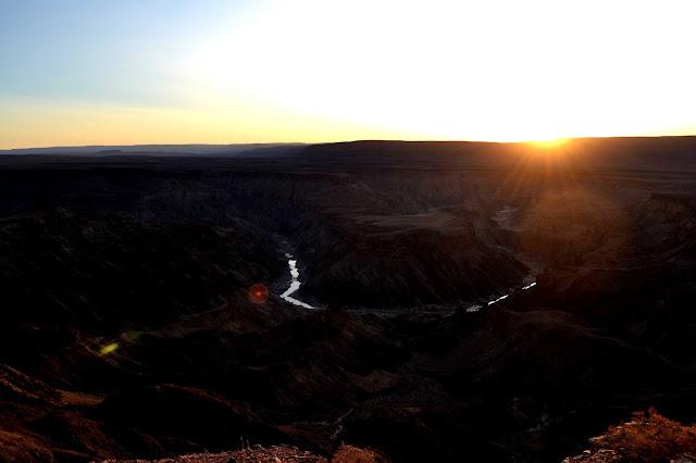 Fish River Canyon at sunset, Namibia