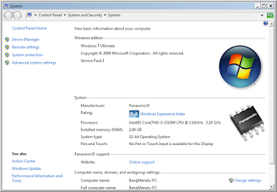 Cara Mengetahui Spesifikasi Laptop Komputer Di Windows 7