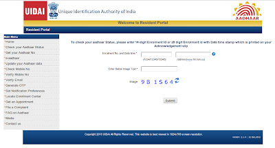 Check Your Aadhaar Card Status.