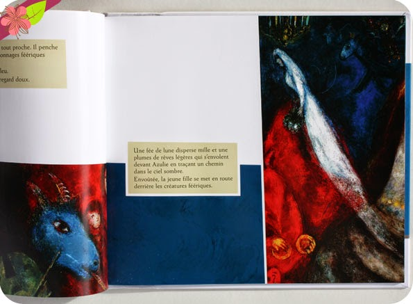 """Azulie dans la Nuit"" de Nancy Guilbert - peintures de Marc Chagall - Léon art & stories"