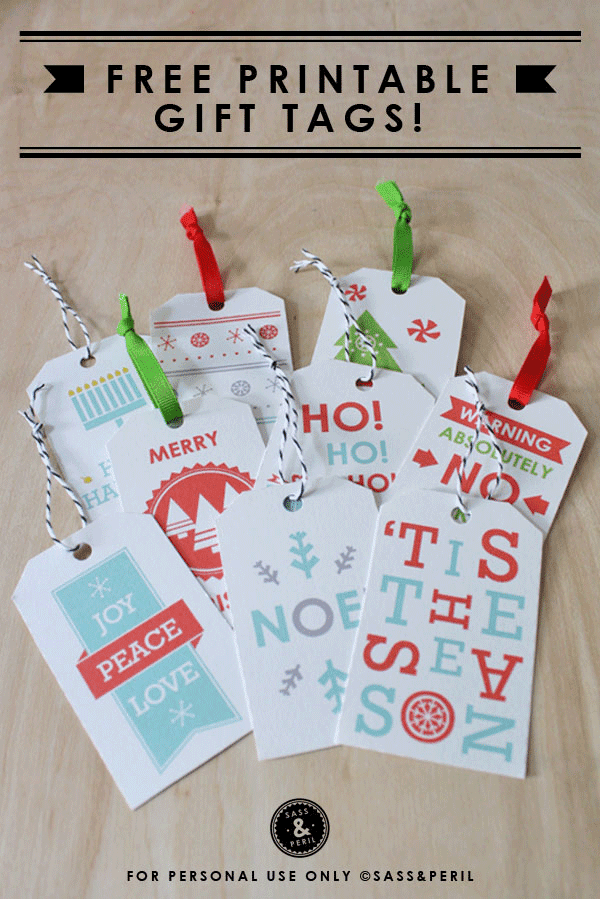 free printable holiday gift tags, christmas gift tags
