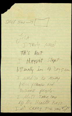 Michael Jackson's Note to Lisa Marie Presley