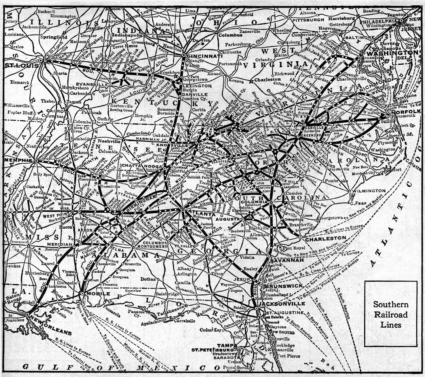 the southern railroad system 1921