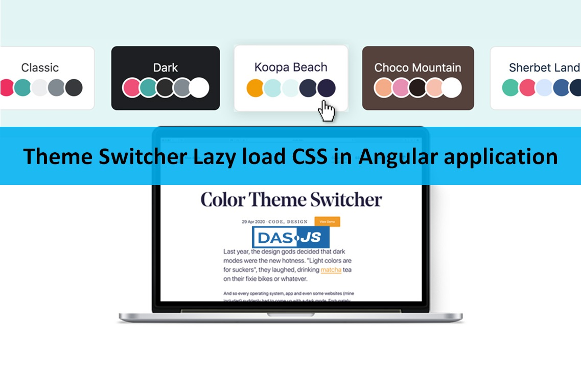 How to Add 的me Switcher Lazy load CSS 在 角度的 application?