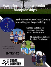 Open Cross Country race in Dungarvan...Sun 1st Oct 2017