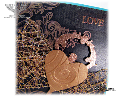 Crafty Colonel Donna Nuce for House of Cards Blog, Club Scrap Lock and Key Club Stamp Kit, Love Card