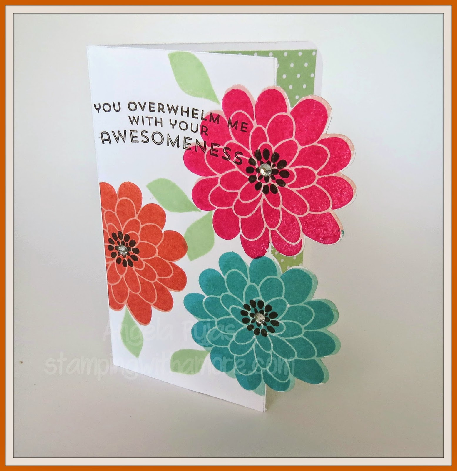 Stampingwithamore Flower Patch Cut Out Card
