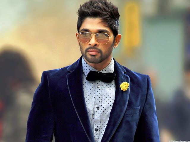 Stylish star Allu Arjun has celebrated Dussehra festival at his mother -in-law's house in Nalgonda district. Popular Tollywood celebrity also uttered some dialogues of his character Gona Ganna Reddy which he portrayed in recent historic 3D stereoscopic movie Rudhramadevi.