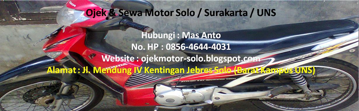 Ojek Sewa Motor Solo / Surakarta / UNS / Stasiun Balapan