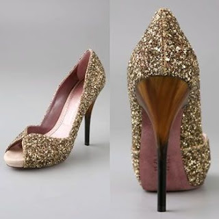Coat Shoes With Copper Glitter