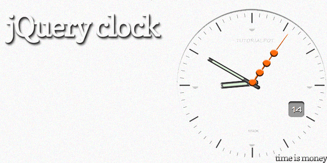 Create A Stylish Working Clock With jQuery And Css