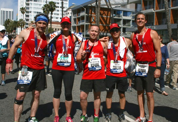 T2 Team to End AIDS runners LA Marathon 2014