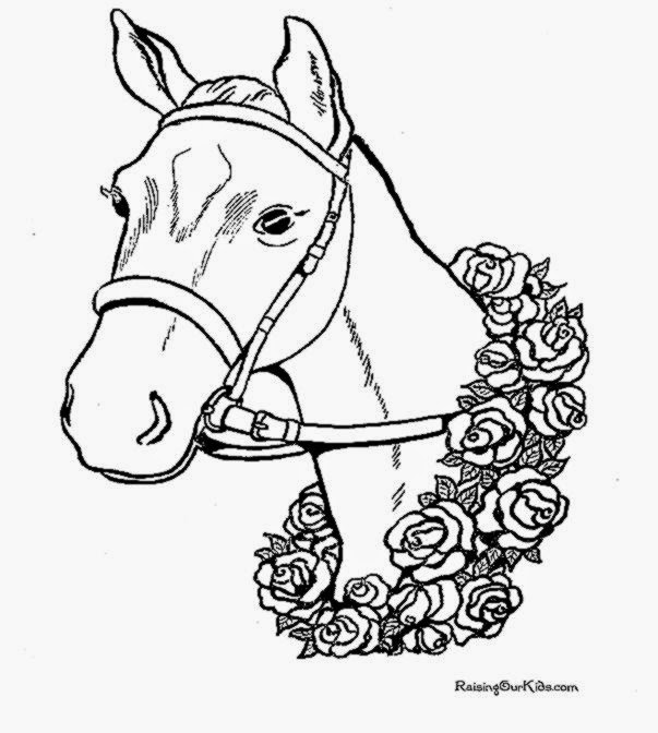 Horse coloring pages Horse 003