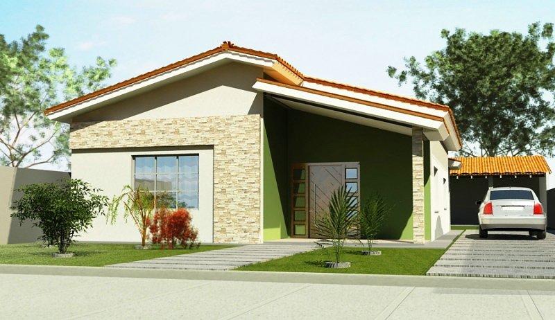fachadas de casas bonitas e baratas