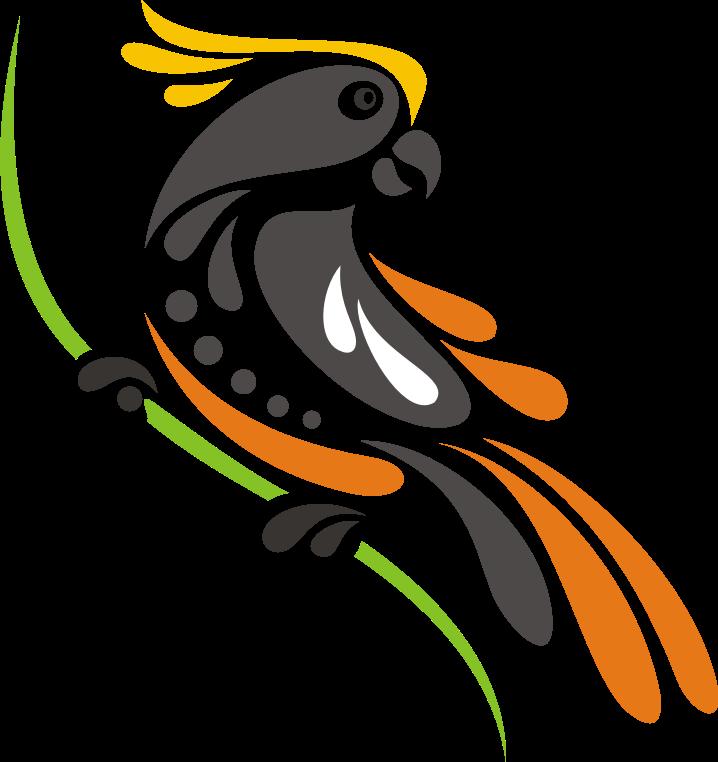 Logo Burung Kakatua Format Vektor