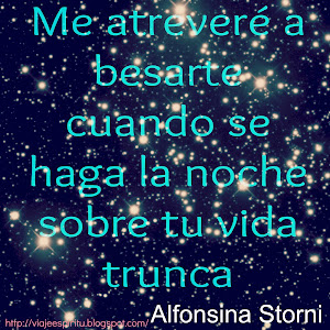 Alfonsina Storni, Me atreveré a besarte