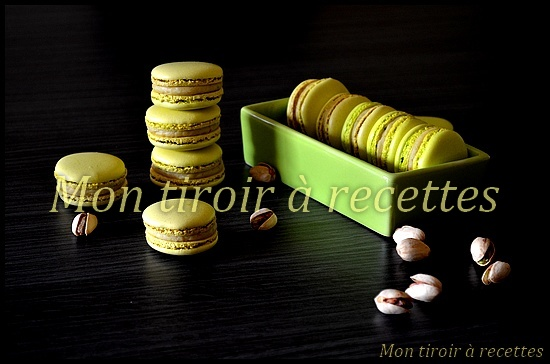 macarons pâte pistache
