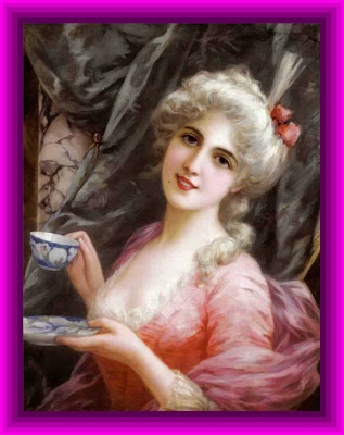 victorian lady in purple frame