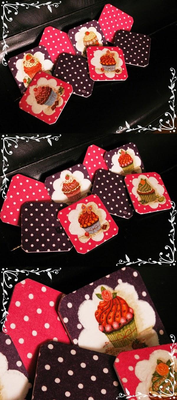 Muffinkowe podkładki w groszki