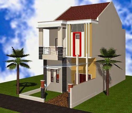 Gambar Desain Rumah Minimalis Lantai 2 Type 36