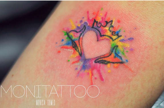 tatuaje de acuarelas