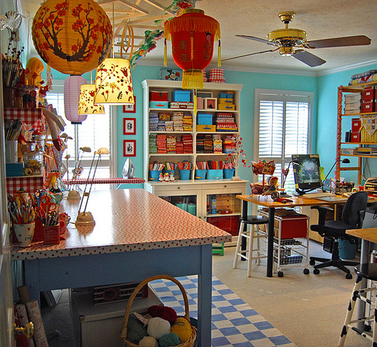 Inspire bohemia home offices craft rooms part i for Creative room decor