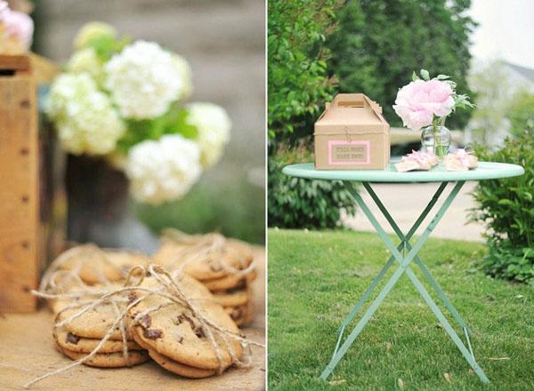 presentacion galletas choco y mesa en el jardin-fiesta cumpleaños country vintage