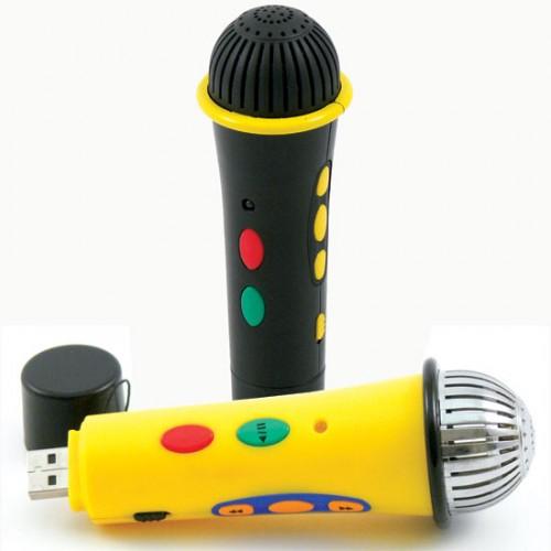 Opptaker med mikrofon