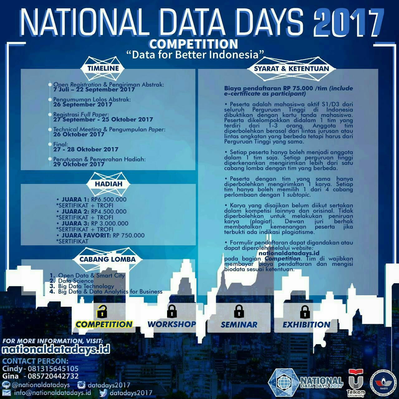 National Data Days 2017 dari HMBTI Telkom University