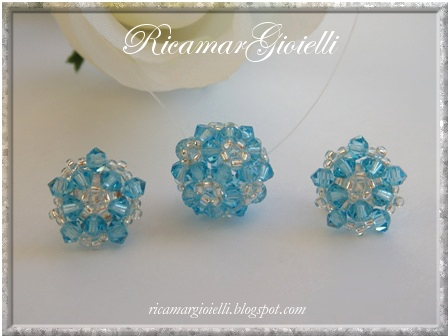 Set Ornate Beaded Bead (bicones 3 mm)