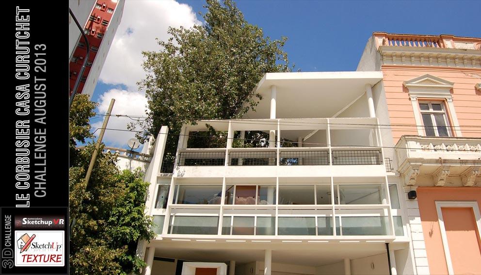 Sketchup texture le corbusier casa curutchet 3d challenge - Le corbusier casas ...
