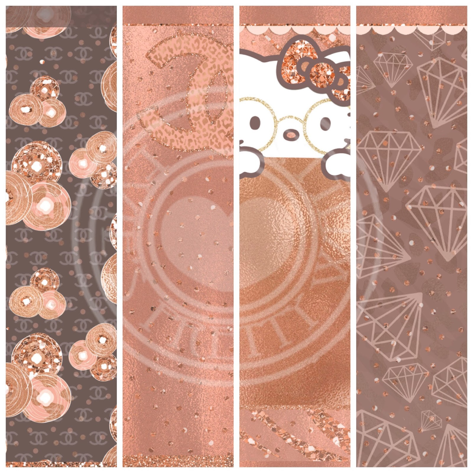 Pretty walls rose gold 9 piece wallpaper set for Pretty wallpaper for walls