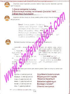 6.Sinif  Turkce Doku Yayinlari Ogrenci Calisma Kitabi Sayfa 128