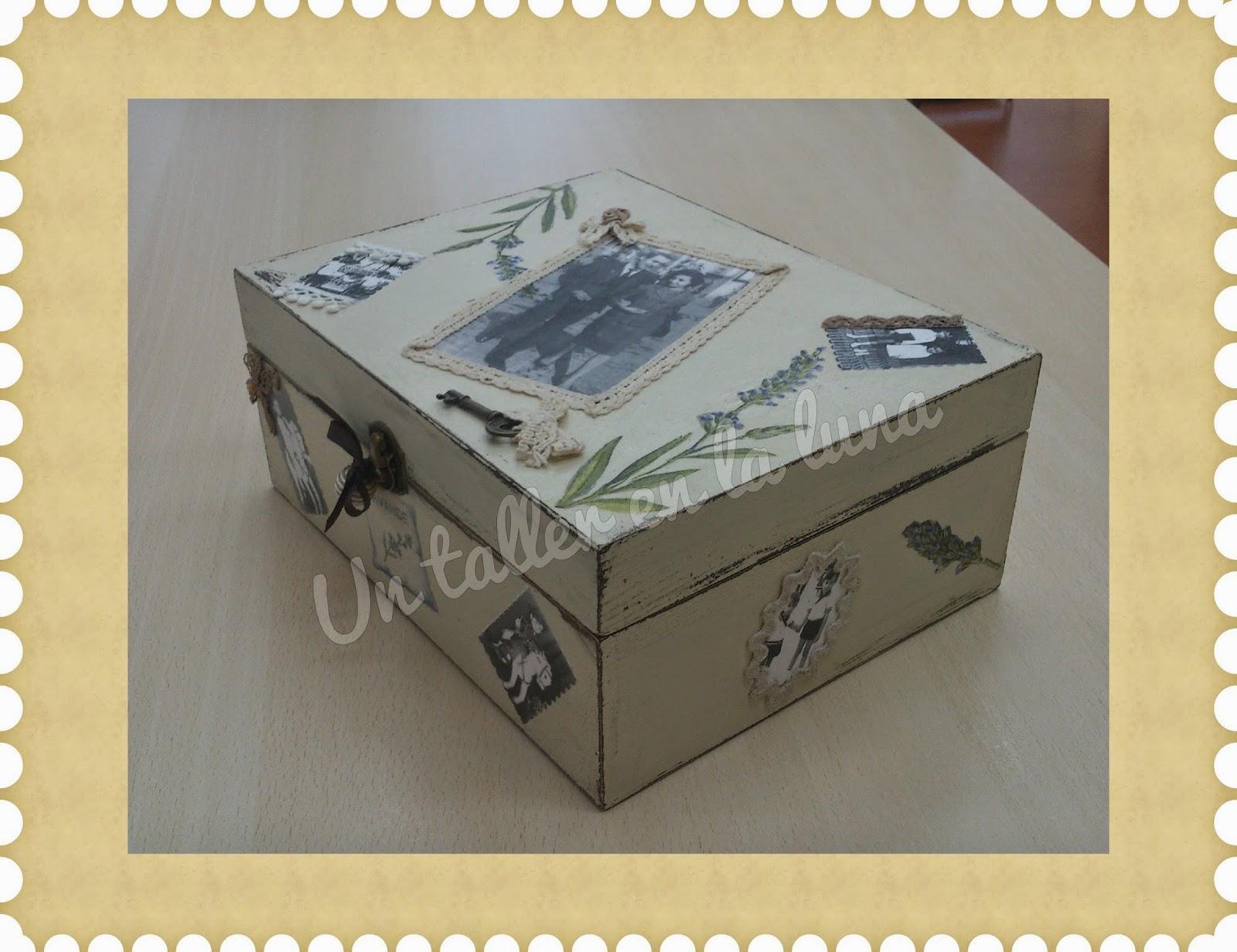 Caja vintage aprender manualidades es - Manualidades caja de madera ...
