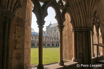 Cloister in Norwich cathedral