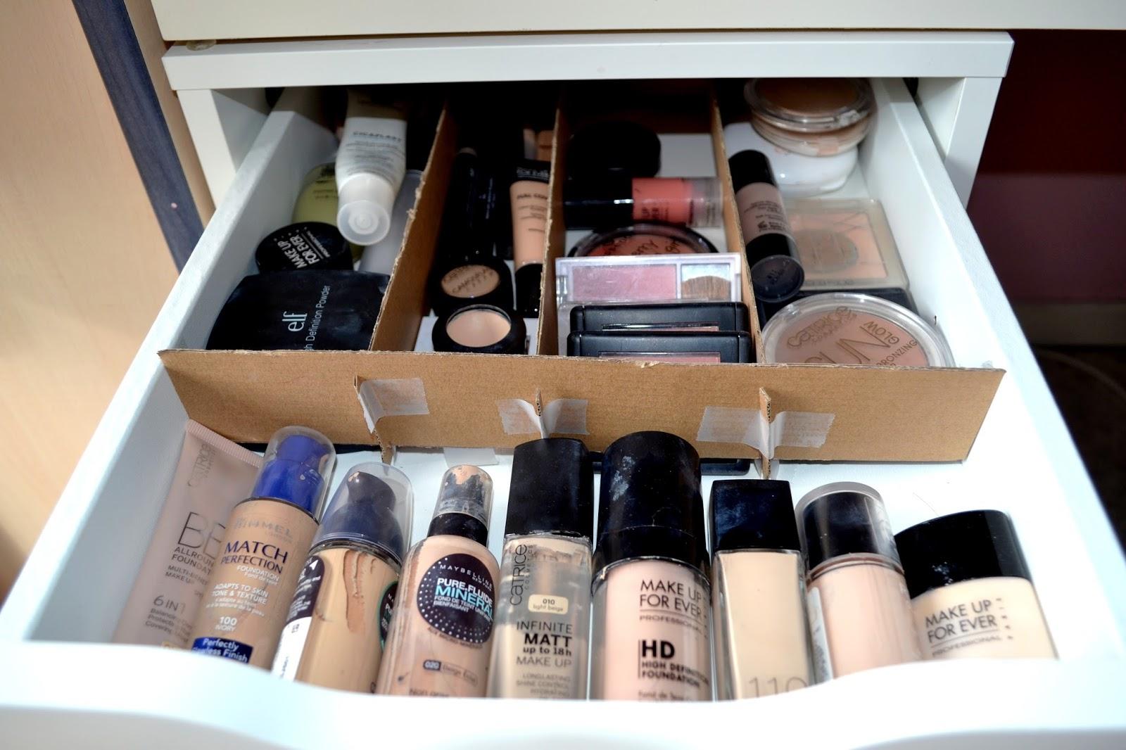 My beauty moment mon rangement make up petit prix - Rangement maquillage tiroir ...