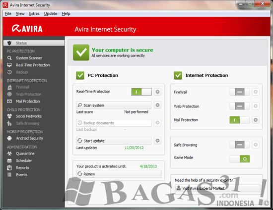 Avira Internet Security 2013 Full License 2